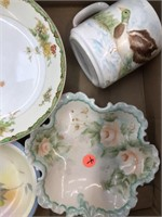 Box of vintage dishes