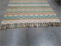5 by 9 hand-woven rug