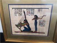 """Egyptian painting on papyrus 16""""×14"""""""
