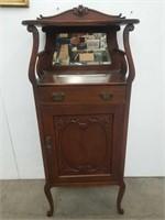 """Antique art nouveau cabinet 21""""×56"""",13""""D"""