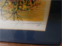 Hand colored lithograph / pencil signed at lower