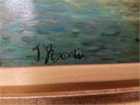 Oil painting on board by T Pisconti
