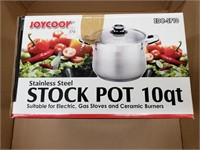 Stainless steel stock pot 10 QT. New in opened