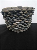 "Stone flower pot 13""×9"""