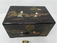 Asian style jewelry box with lock