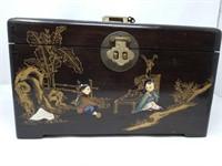 Asian jewelry box with lock