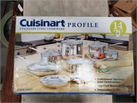 Cuisinart Stainless Steel 14 piece set. New in