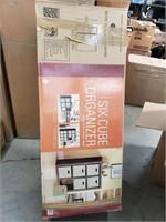 6 cube organizer. Includes 6 fabric bins. New in
