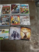 Wii & Deluxe Red PS3 Game Stations With Games Etc