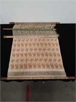 Antique textile in the making