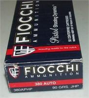 50 Round Box Fiocchi  380 Auto