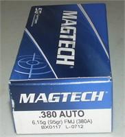 50 Round Box Magtech  380 Auto