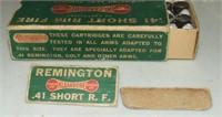 50 Round Remington Bone Box  41 Short Rf