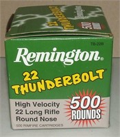500 Round Box Of Rem Thunderbolt 22 Rf