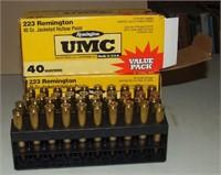2-40 Round Boxes Of Umc Remington .223
