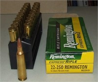 20 Round Box Of Remington 22-250
