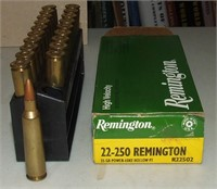 20 Round Box Of Remington 22-250