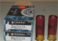 2-5 Round Boxes Of Federal 12 Ga