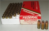 2 - 50 Round Boxes Federal 9mm Luger