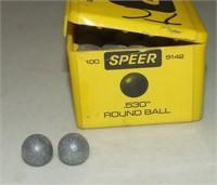 76 Pieces, Speer .530 Round Balls