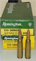 2 - 20 Round Boxes Remington 250 Savage