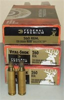 3 - 20 Federal 260 Remington Brass