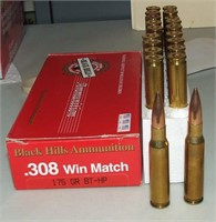 20 Round Box Black Hills 308 Match