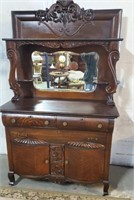 Circa 1900 Oak 3 Stage Beautifully Carved