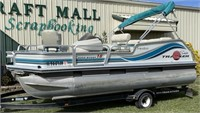 1997 Tracker Bass Buggy 18' Pontoon Boat