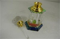 Unique 6 Sided Prism Style Perfume Bottle