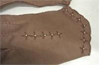 Antique Ladies  Leather/Cotton Gloves