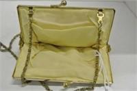 Vintage Ladies Golden Beaded Clutch