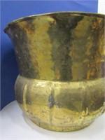 Indian Brass Hand Hammered Jardinière