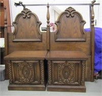 Queen Size Wooden Bed Frame & Night Stands