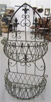 Wrought Iron Metal Planter Basket