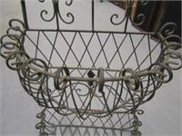 Wrought Iron Metal Planter Basket