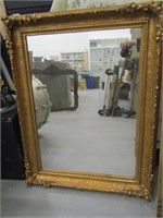 Modern Gold Guild Tone Wall Mirror