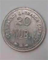 "Fur Trader Hudson Bay Company Coin ""20"""
