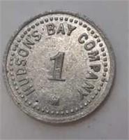 "Fur Trader Hudson Bay Company Coin ""1"""