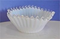 White Iridescent Bon-Bon Dish