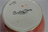Carlton Ware Floral Orange Lustre Vase