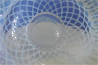 White Iridescent Square Bowl