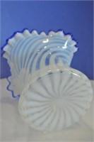 Blue Ruffled Edged Vase