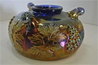 Carnival Glass Footed Bowl