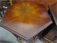 Pair of Wooden Drum Tables