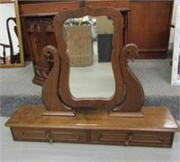 Antique Wooden Dresser Mirror