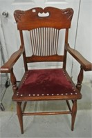 Antique Refinished Rail Back Armchair