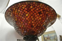Torchiere Mosaic Shade Floor Lamp