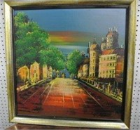 Bourbon Street Scene Artwork - Original