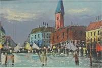 European Original City Scene Artwork
